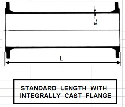 STANDARD  LENGTH  WITH INTEGRALLY  CAST  FLANGE